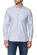 Casual Blue Brick Dobby Shirt