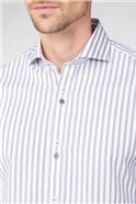 Stvdio Grey Edged Stripe Shirt