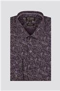 Studio Purple Vines Print Shirt