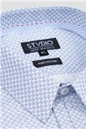 Stvdio White Micro Paisley Print Shirt