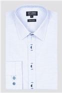 White Square Dobby Shirt