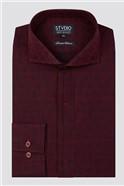 Stvdio Burgundy Tree Jacquard Shirt