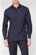 Black Large Floral Jacquard Shirt