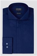 Stvdio Navy Jacquard Shirt