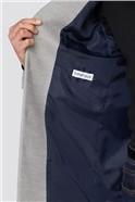 Light Grey Melton Slim Fit Overcoat