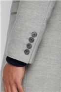 Cool Grey Melton Overcoat