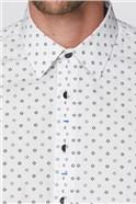 Stvdio White Geo Floral Shirt
