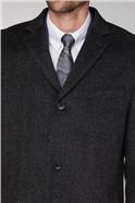 Grey Textured Overcoat