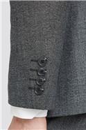Charcoal Texture Regular Fit Suit Trouser