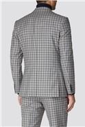 Grey Navy Check Tweed Regular Fit Suit