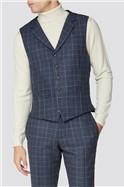 Blue Heritage Tweed Waistcoat