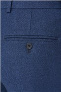 Blue Texture Tailored Fit Suit Trousers