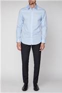 Brit Light Blue Ditsy Floral Print Shirt