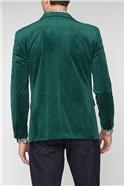 Stvdio Green Slim Suit Mens Velvet Blazer