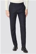 Charcoal Herringbone Slim Suit Trouser