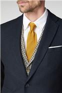 Navy Herringbone Tailored Suit