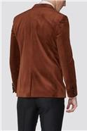 Limehaus Orange Slim Fit Mens Velvet Blazer