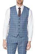 Blue Windowpane Heritage Tweed Waistcoat