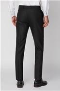 Black Texture Slim Trouser