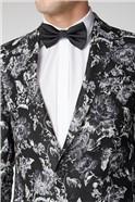 Black Grey Floral Jacket