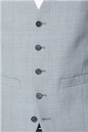 Light Grey and Blue Check Skinny Fit Suit