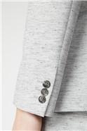 Grey Texture Slim Fit Suit Trouser