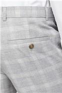 Grey Tonal Check Skinny Fit Suit