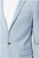 Pale Blue Slim Fit Suit Trousers