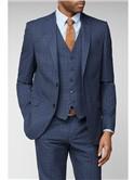 Navy Heritage Check Slim Fit Suit