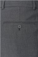 Grey Semi Plain Tailored Fit Two Piece Suit