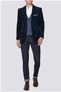 Navy Cord Tailored Fit Suit
