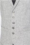 Grey Textured Linen Look Tailored Fit Suit