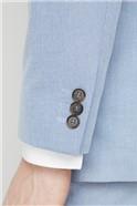 Ice Blue Linen Look Regular Fit Suit