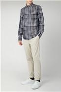 Oversized Stripe Checked Shirt