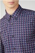 Irregular Twill Check Shirt