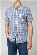 Twill Gingham Overcheck Shirt
