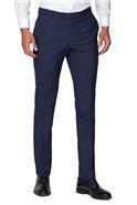 Blue Micro Check Skinny Fit Waistcoat