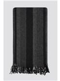 Grey Tonal Multi Stripe Scarf