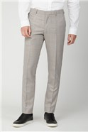 Grey Orange Prince of Wales Check Skinny Fit Suit