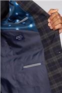 Blue Black Brushed Check Slim Fit Suit