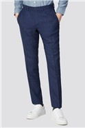Blue Geo Structure Tailored Fit Suit