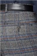 Charcoal & Blue Checked Waistcoat