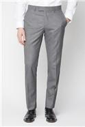 Grey Regular Fit Suit Trousers