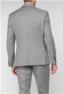 Light Grey Textured Windowpane Soho Suit Waistcoat