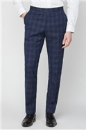 Navy Check Soho Suit Trousers