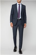 Electric Blue Check Regular Fit Suit