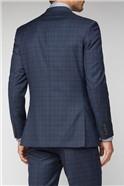 Deep Blue Caramel Check Regular Fit Suit