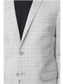 Grey Tonal Check Slim Fit Suit