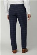 Blue Tan Check Tweed Regular Suit