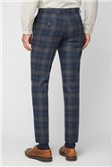 Navy Tan Check Tailored Fit Suit
